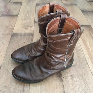 Ariat Boots Cowboy Western Brown Leather 10.5 Mens